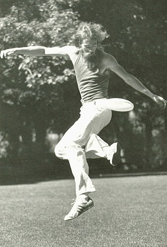 Flying disc games - Ken Westerfield, playing freestyle, 1960s-70s.