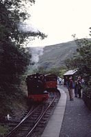 Kerr Stuart 0-4-2ST No. 4047 of 1921, Talyllyn Railway No. 4 'Edward Thomas' (ex-Corris Rly) Nant Gwernol, Wales 17.8.1992 (10196704065).jpg