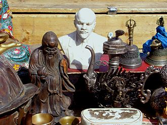 Informal economy - The Narantuul Market in Ulaanbaatar, Mongolia, colloquially also called Khar Zakh (Black Market)