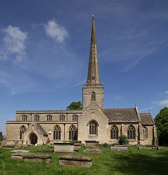 "Kidlington - Parish church of St Mary the Virgin. Its tall spire is a local landmark, nicknamed ""Our Lady's Needle"""