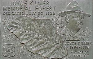 Joyce Kilmer Memorial Forest - Image: Kilmer Memorial Plaque