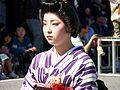 Kimono girl closeup in 2006 Aizu parade.JPG