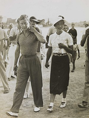 Commonwealth realm - King Edward VIII and Wallis Simpson on holiday in the Mediterranean, 1936