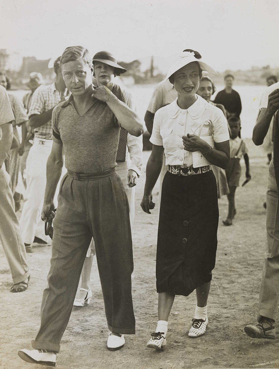 King Edward VIII and Mrs Simpson on holiday in Yugoslavia, 1936