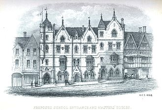 King Edward VI College, Stourbridge - Image: King Edwards college 1858