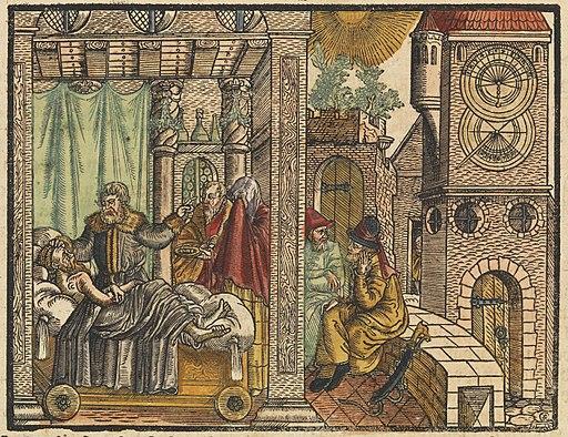 King Hezekiah on his sickbed Wellcome L0072164