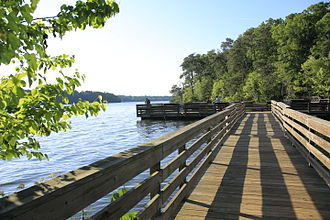 Uwharrie National Forest - Fishing pier at Kings Mountain Point Day Use Area