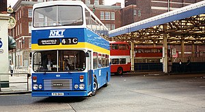 Dennis Dominator - Hull Corporation Transport East Lancs E Type bodied Dominator at Hull bus station in May 1995