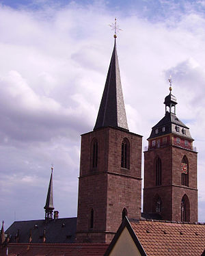 Neustadt an der Weinstraße - The towers of the abbey church
