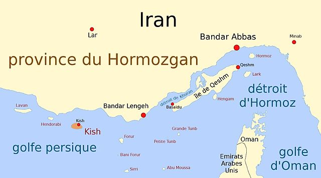 La côte du Golfe iran