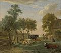 Koeien in de wei bij een boerderij Rijksmuseum SK-A-711.jpeg