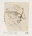 Kop van een man met slappe hoed, in profiel naar rechts, RP-T-1994-88.jpg