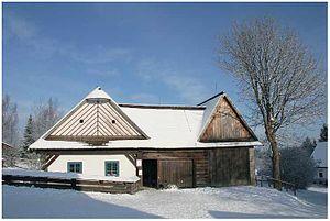 Horácko - Veselý kopec museum consists of traditional buildings of Horácko.