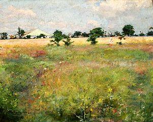 Krajobraz z łąką