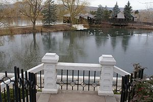 May Bonfils Stanton - View of the lake and boating dock at Belmar Park in 2010