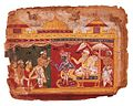 Krishna being presented the Shyamantaka jewel, Bhagavata Purana, 1525.jpg