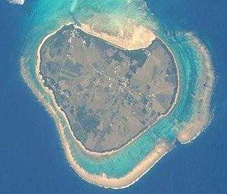 Kuroshima (Okinawa) - Satellite view of Kuroshima