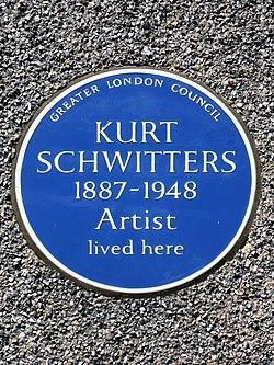 Kurt schwitters 1887 1948 artist lived here