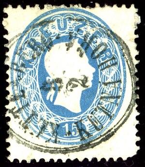 Kutná Hora - Austrian bilingual KK stamp in 1861