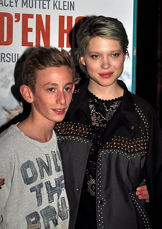 Sister (2012 film) - Stars Kacey Mottet Klein and Léa Seydoux at a screening in April 2012.