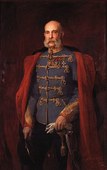 Portrait by Philip de Laszlo, 1899 Laszlo Portrait of Franz Joseph I 1899.jpg