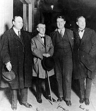 Léon-Paul Fargue - Fargue (left) with Maurice Ravel, Georges Auric and Paul Morand in 1927
