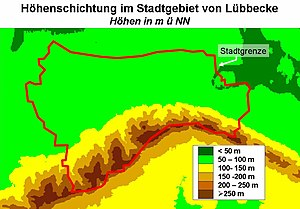 Lübbecke - Topography of the borough