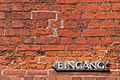 Lübeck Germany Entrance-sign-at-a-brickstone-house-01.jpg