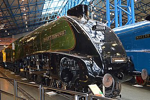 LNER Class A4 4496 Dwight D Eisenhower - Dwight D. Eisenhower on display at the National Railway Museum on 22 February 2013