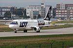 LOT - Polish Airlines - Polskie Linie Lotnicze Embraer 175LR (ERJ-170-200LR) SP-LIN Mike Tyson - Black Energy special colours (22553761983).jpg