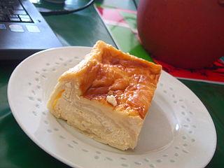 Milk-cream strudel food