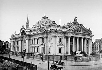 Brussels Stock Exchange - The Bourse in 1873, shortly after completion