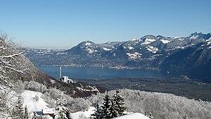 View onto the Lake Geneva form Torgon Français...