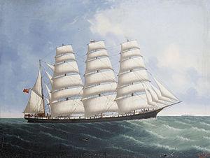 Lai Fong - The clipper ship 'Lynton' at sea off Calcutta.jpg