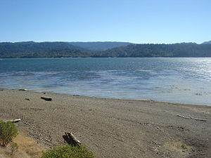 Eel River (California) - Lake Pillsbury is formed by a dam built in 1921 near the headwaters of the Eel River