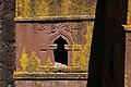 Lalibela, san giorgio, esterno, finestre 05.jpg
