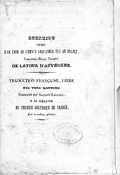 Guerziou groet d'an enor ar c'henta greunader eus ar Françz, Theophil-Malo-Corret de Latour d'Auvergne