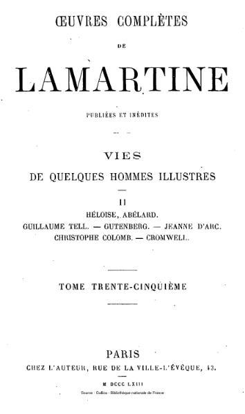 File:Lamartine - Œuvres complètes de Lamartine, tome 35.djvu