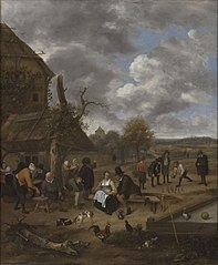 Landscape with an Inn and Skittles