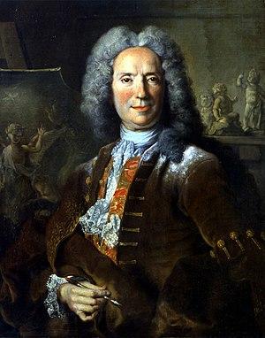 Pierre Parrocel - Pierre Parrocel portrait by Nicolas de Largillière, Calvet Museum