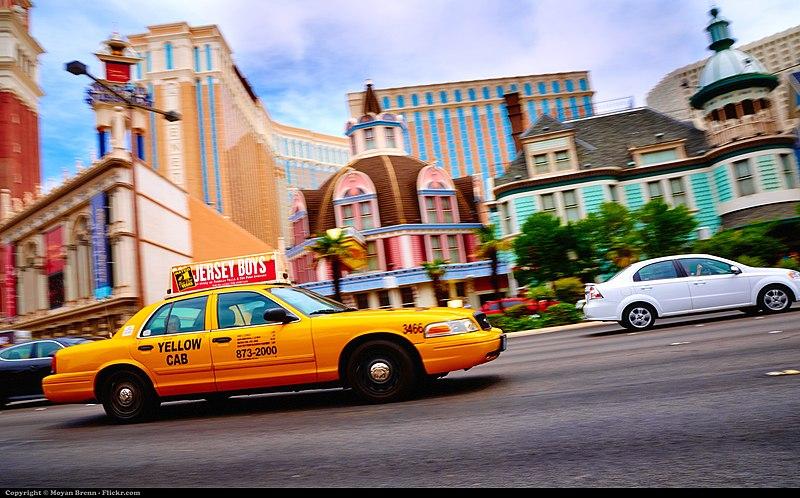 Táxi no aeroporto de Las Vegas