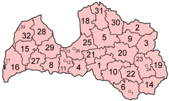 Districts of Latvia - Districts of Latvia