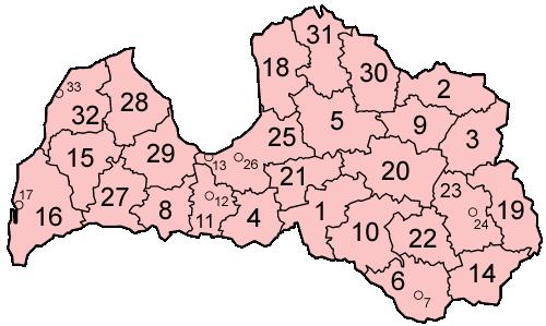 Административно деление на Латвия