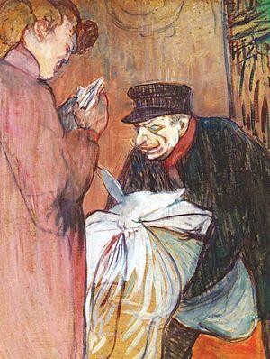 La Fleur blanche - Image: Lautrec the brothel laundryman 1894