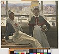 Le Havre, 1919 - Nurse Billam and Sister Currier Art.IWMART2892.jpg