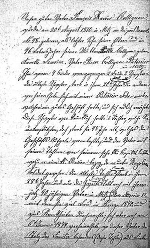 English: scan of a copy of the first page of t...