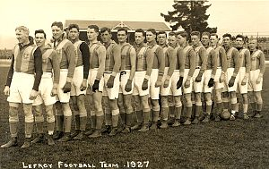 Lefroy Football Club - A Lefroy F.C. team in 1927, when they finished runners-up.