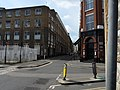 Leonard Street junction with Tabernacle Street view southwest 01.jpg