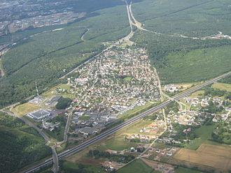 Grand-Couronne - An aerial view of Les Essarts