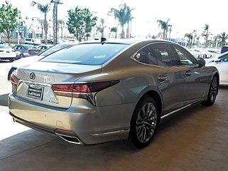 2018 Lexus Ls 500 Rear Quarter View